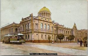 The Law Courts Melbourne Australia AU UNUSED Postcard E55