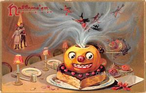 Halloween Post Card Old Vintage Antique Raphael Tuck Publishing postal used u...