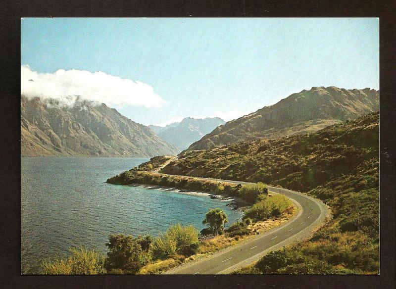 NEW ZEALAND POSTCARD DEVILS STAIRCASE,LAKE WAKATIPU