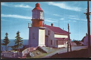 Quebec Typical Lighthouse Gaspe Highway at CAP CHAT Gaspe Nord, Route 6 - Chrome