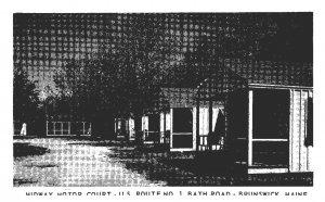 Maine  Brunswick , Midway Motor Court
