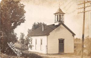 E84/ Unionport Ohio RPPC Postcard Jefferson County c1910 M.E. Church