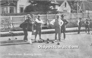Old Vintage Lawn Bowling Postcard Post Card Barremman Bowling Green 1919