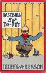 Base Ball Baseball Postcard
