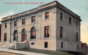 Manistee MI Terraced Steps to Stone Construction Post Office~1913