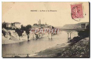 Postcard Old Brewery Ruoms Bridge and breweries