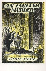 An English Murder Cyril Hare 1951 Book Postcard