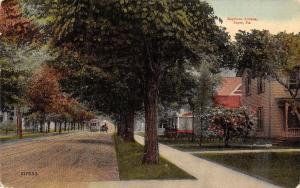 Sayre Pennsylvania~Keystone Avenue Homes~Trolley & Wagon~1912 Postcard