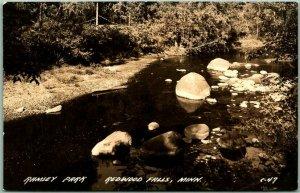 Redwood Falls, Minnesota RPPC Photo Postcard RAMSEY PARK Stream View c1940s