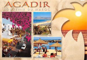 Africa Souvenir du Maroc Agadir multiviews Motorcycle Car Auto Hotel Beach