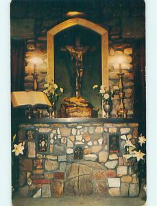 Unused 1950's CHURCH SCENE Rindge New Hampshire NH p3859