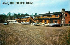Beaver Creek Alaska~Alas/Kon Border Lodge~Yukon Territory~NICE Cars~Bus~1960s
