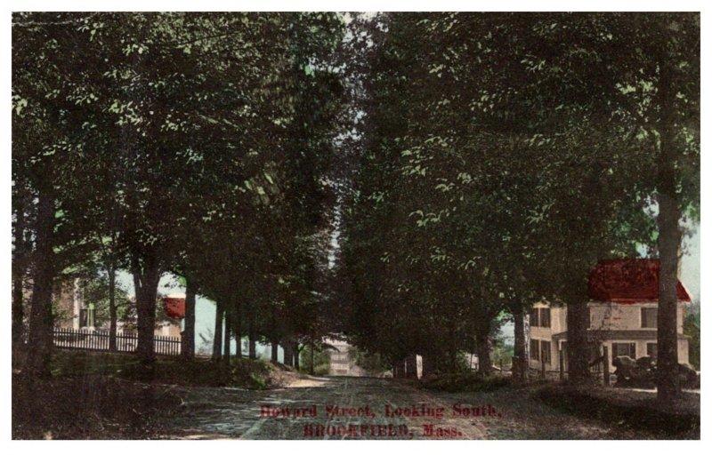 Massachusetts Brookfield , Howard  Street , looking South