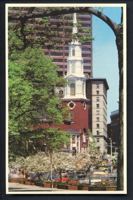 Boston, Mass/MA Postcard, Park & Tremont Streets, Common