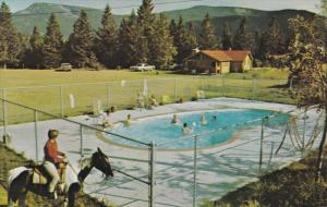 Swimming Pool , Rafter Six Guest Ranch , SEEBE , Alberta , Canada , 50-60s