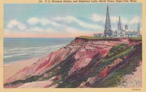 Massachusetts Cape Cod North Truro U S Wireless Station and Highland Lighthou...