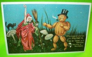 Antique Halloween Postcard Anthropomorphic Anglo-American Original 876 Goblin