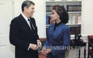 The New Miss America Ronald Regan 40th USA President Postcard Postcards  The ...