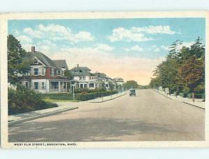 W-Border STREET SCENE Brockton Massachusetts MA G5175