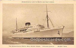 Union Castle Royal Mail Motor Vessel Athlone Castle Ship Unused