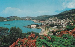 ST. THOMAS, Virgin Islands, PU-1944; Charlotte Amalie Harbor As Seen From Blu...