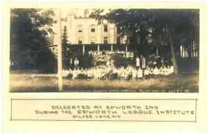 1921 Epworth League Institute Silver Lake NY Postcard