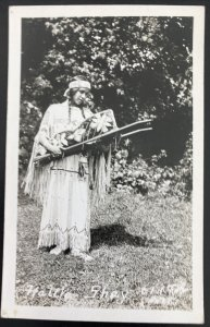 Mint USA Real Picture Postcard Native American Indian Hattrer Shay