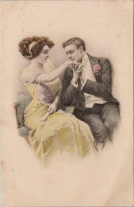F. Kuderny Artist Man and Woman Romance Love #584 M.M.Vienne Postcard G13