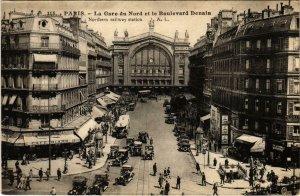 CPA PARIS 10e Gare du Nord et Bd Denain (970568)