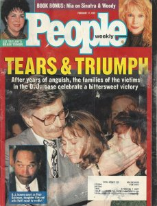 People Weekly Vintage February 17, 1997 Magazine O. J. Simpson Trial