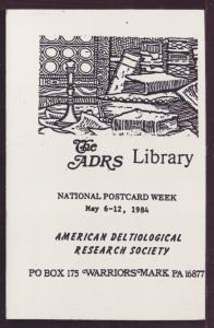 National Post Card Week Research Society 1984 Post Card 3428