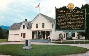 Calvin Coolidge 30th President Birthplace Plymouth Vermont Postcard