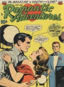 Romantic Adventures 1950s Comic Book Beauty Is A Curse Postcard