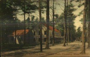 Fitchburg MA Whalom Park Bowling Alley c1910 Postcard