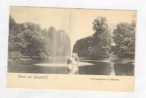 Fontainengruppe im Hofgarten, Gruss Aus Düsseldorf (North Rhine-Westphalia),...