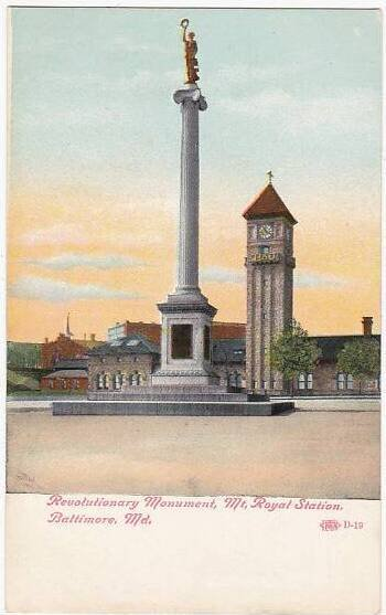 Revolutionary Monument Mount Royal Station Baltimore Maryland