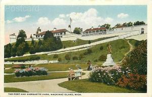 MI, Mackinac Island, Michigan, Marquette Park, Fort, G.H. Wickman No. R-54799
