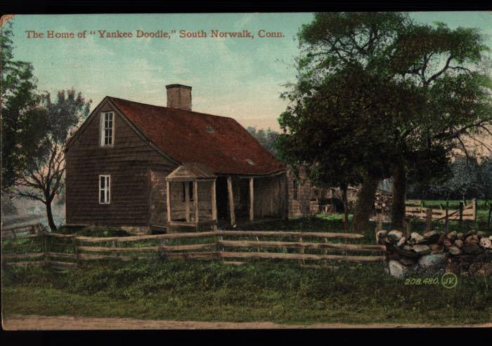 South Norwalk Yankee Doodle House Big Falls Chemung NY Valentine Postcard B05
