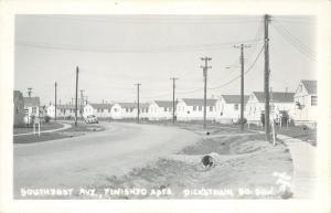 Dickstown South Dakota~Finished Apartments~Southeast Avenue~1940s Car~RPPC
