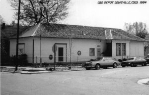 H31/ Louisville Colorado RPPC Postcard 1984 C&S Railroad Depot Station