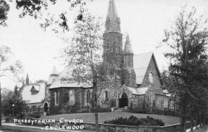 Englewood New Jersey Presbyterian Church Real Photo Antique Postcard K41012
