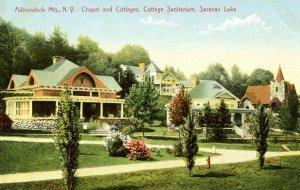 NY - Saranac Lake. Cottage Sanitarium, Chapel & Cottages