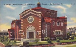 Saint Marys Catholic Church Saint Petersburg Florida The Sunshine City