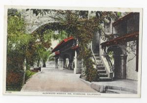 CA Riverside California Glenwood Mission Inn Arch Vintage HH Tammen Postcard