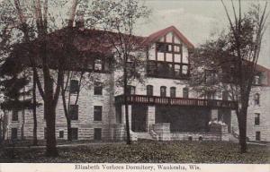 School Elizabeth Vorhees Dormitory Waukesha Wisconsin 1910