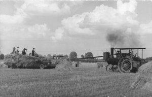 F42/ Occupational RPPC Postcard c1950s Steam Tractor Farming 13