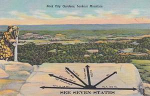 Tennessee Lookout Mountain Rock City Gardens See Seven States Curteich