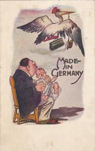 Flying Stork With Father Holding Baby Made In Germany 1907
