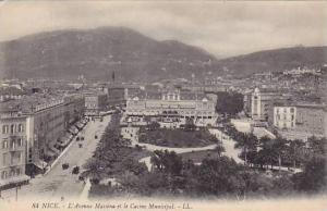 L'Avenue Massena Et Le Casino Municipal, Nice (Alpes Maritimes), France, 1900...