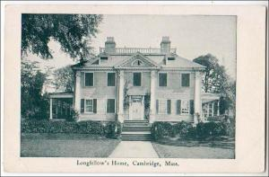 Longfellow's Home, Cambridge MA